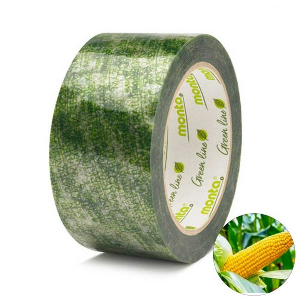 Monta Biopack 860 LG Cinta adhesiva compostable, biodegradable y ecológica proveniente de 90% de recursos renovables para embalaje ecológico