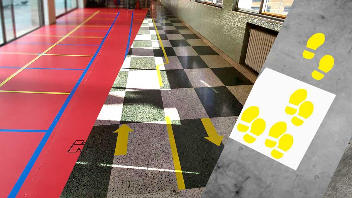 Marcaje de suelos colegios