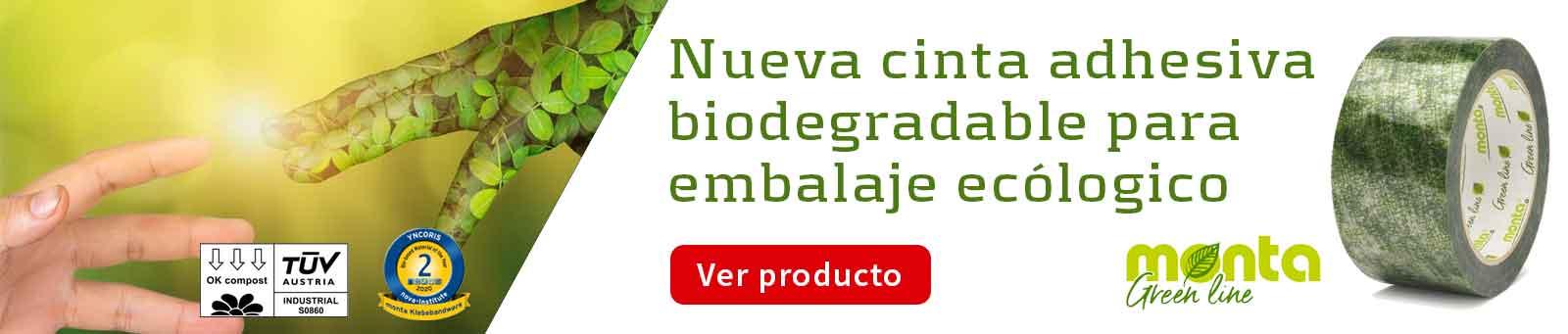 Cinta adhesiva biodegradable compostable para embalaje ecológico