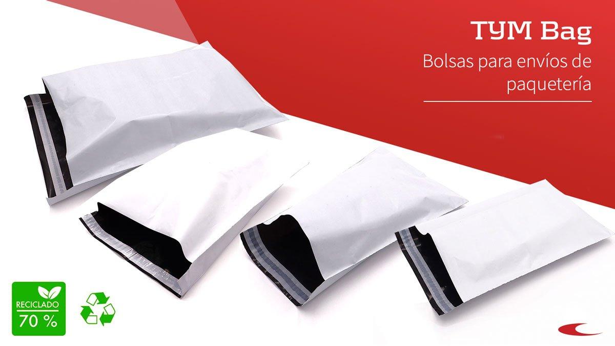 Bolsas de envío de paquetería courier con adhesivo