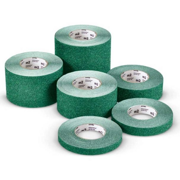 Cinta adhesiva antideslizante M2 Mehlhose color verde varias medidas