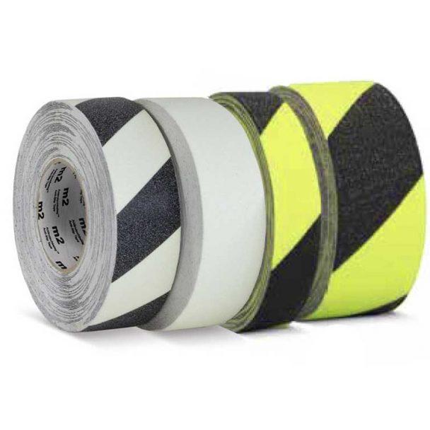Mehlhose M2 cinta adhesiva antideslizante, fotoluminiscente y fluorescente para escaleras, vías de evacuación, y salidas de emergencia