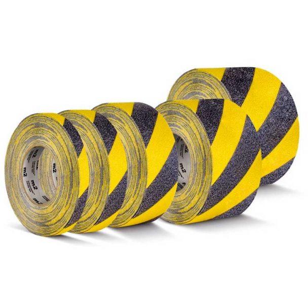 Cinta antideslizante amarilla negra franjas señalización de peligro