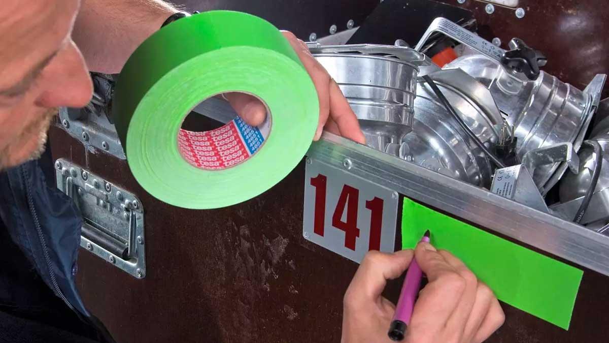 Cinta adhesiva señalización contenedores