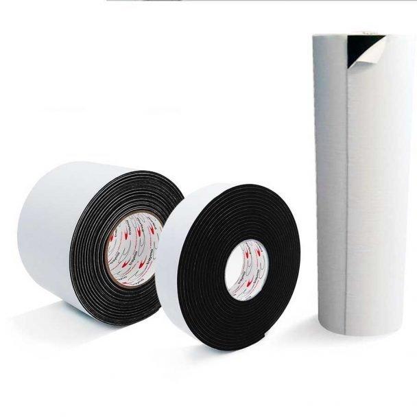 Espuma de PVC con adhesivo a una cara