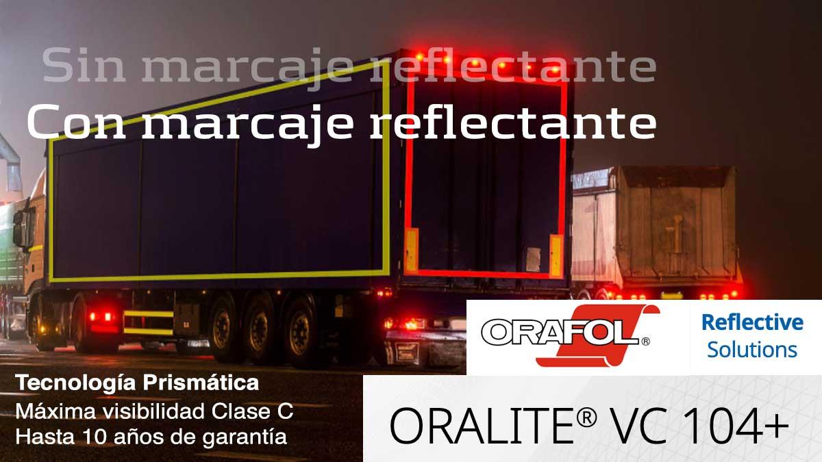 Marcaje reflectante camiones y remolques, lados rígidos o con toldos ORALITE VC104