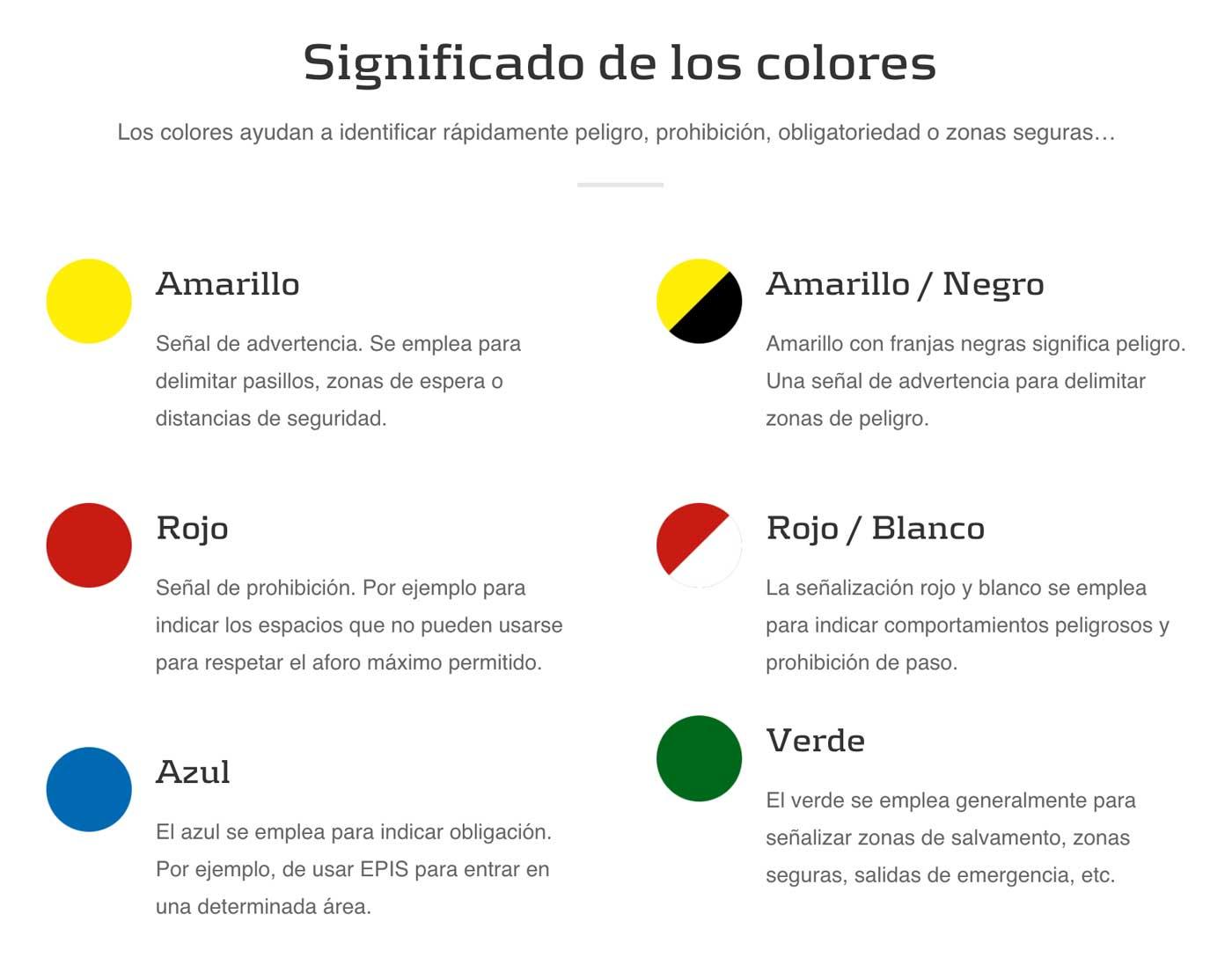 ¿Qué colores debo usar para señalizar el suelo de un almacén?